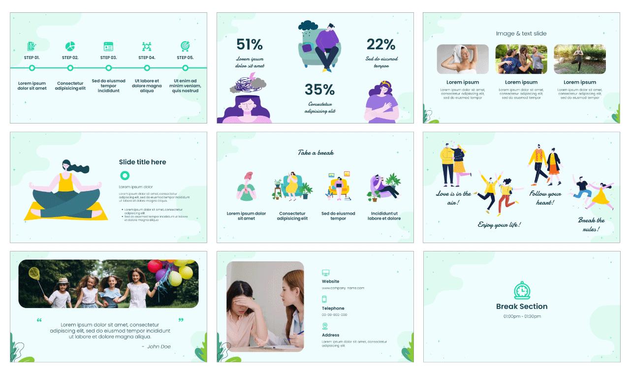 Mental Health Google Slides Theme PowerPoint Template