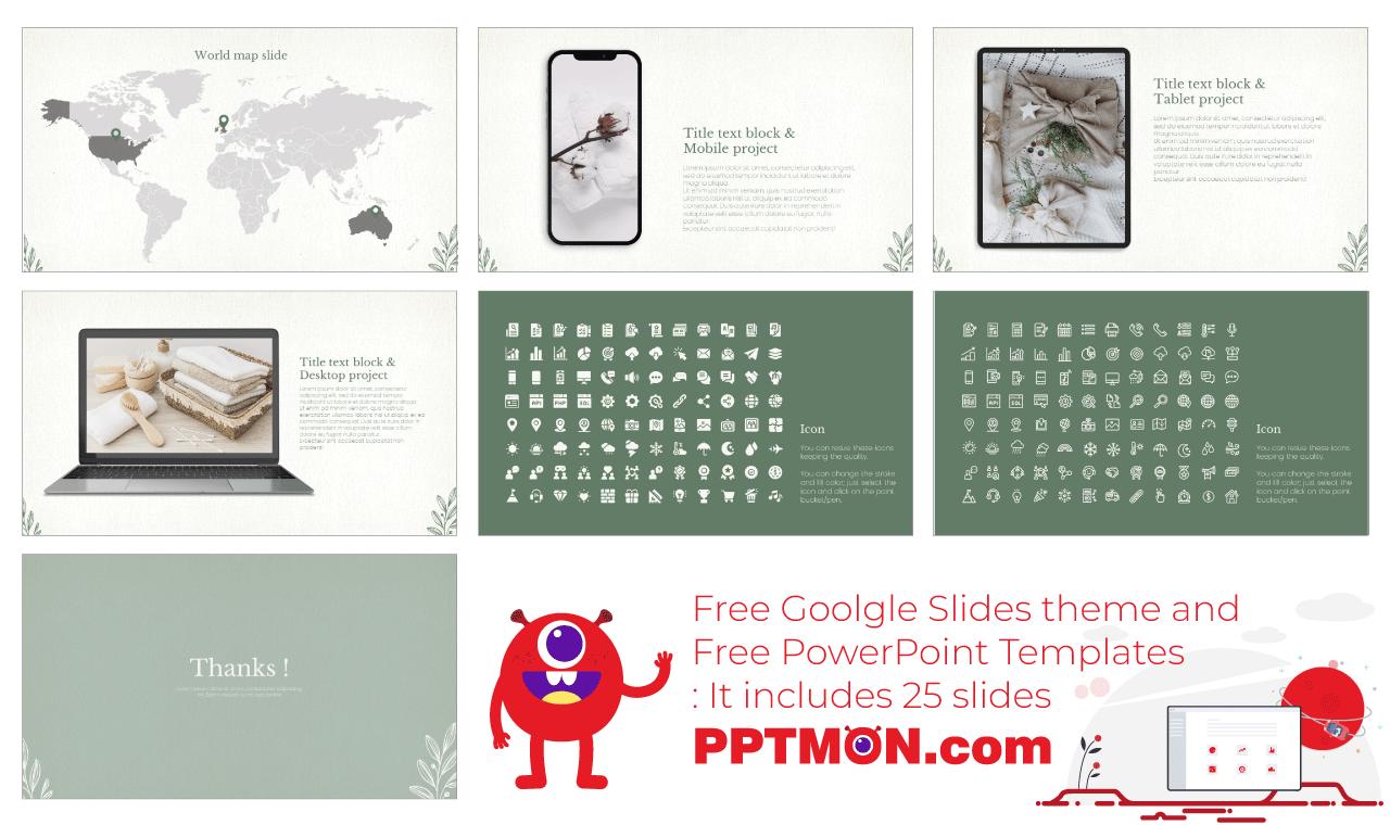 Minimal Organic Presentation background design template