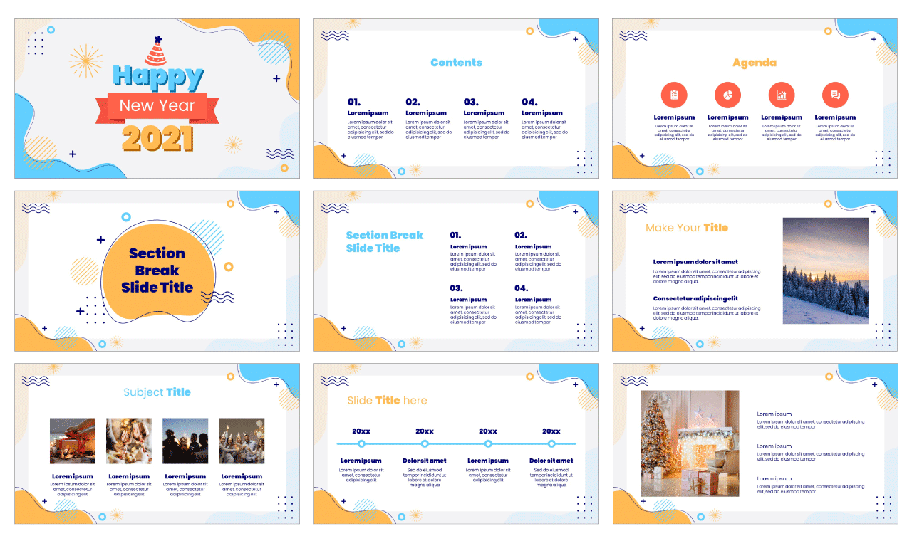 New Year 2021 Free PowerPoint Template Google Slides Theme