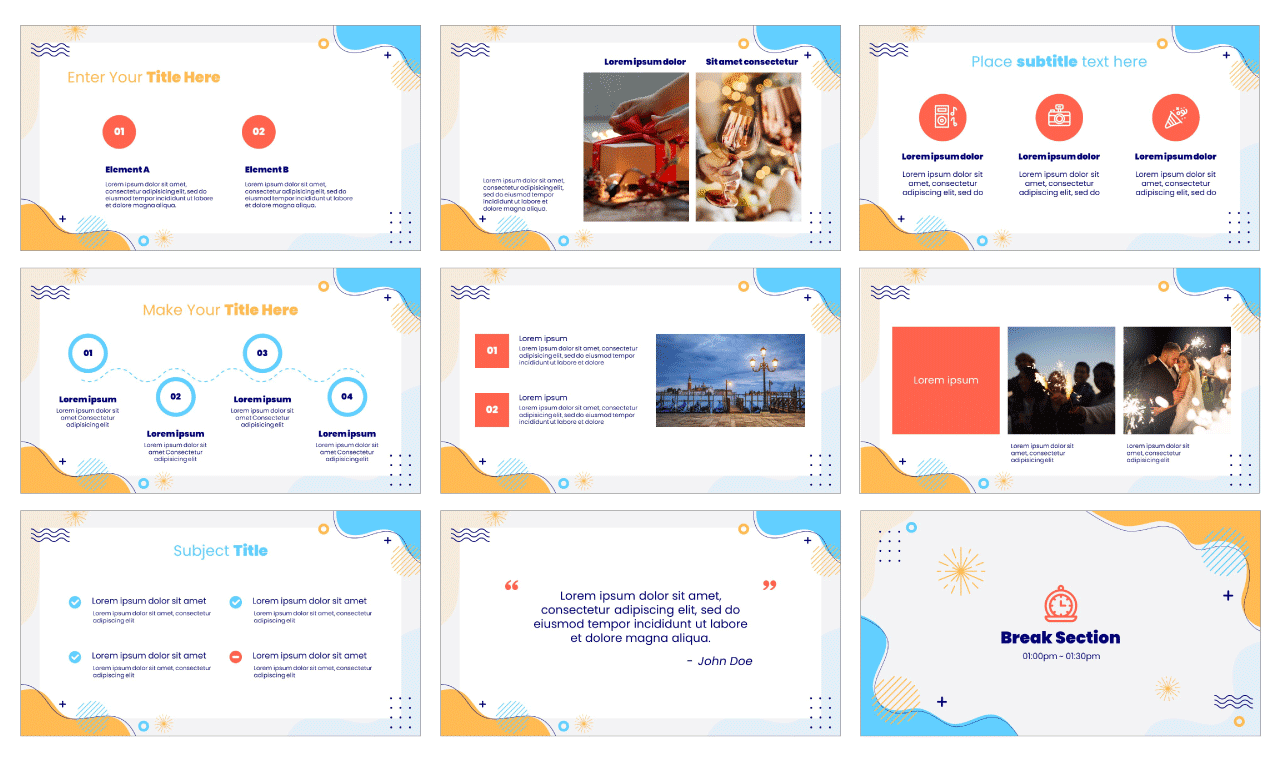 New Year 2021 PowerPoint Template Google Slides Theme Free Download