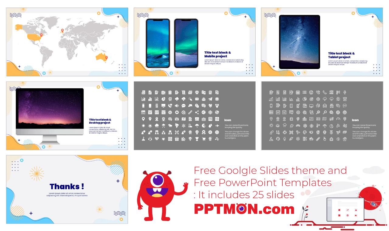 New Year 2021 Presentation background design Free PowerPoint Template Google Slides Theme