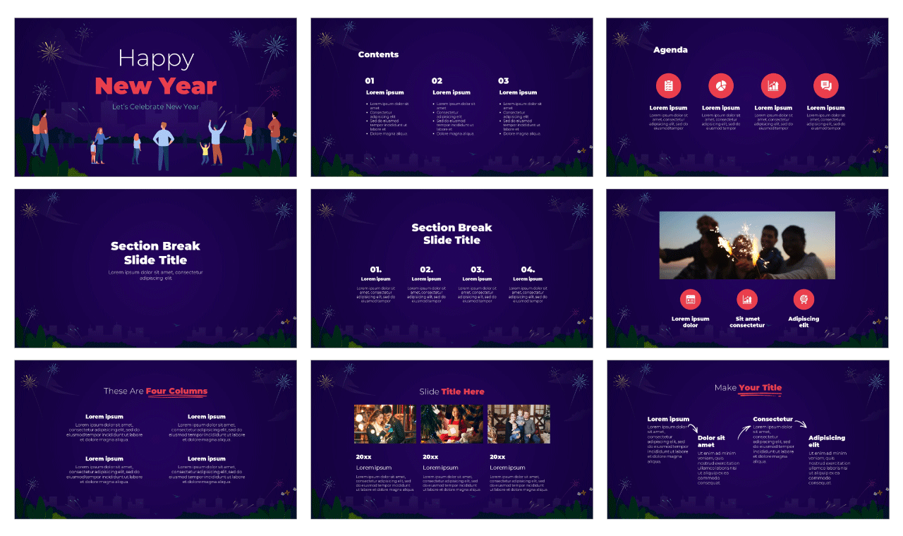 New Year's Eve Free Google Slides Theme PowerPoint Template