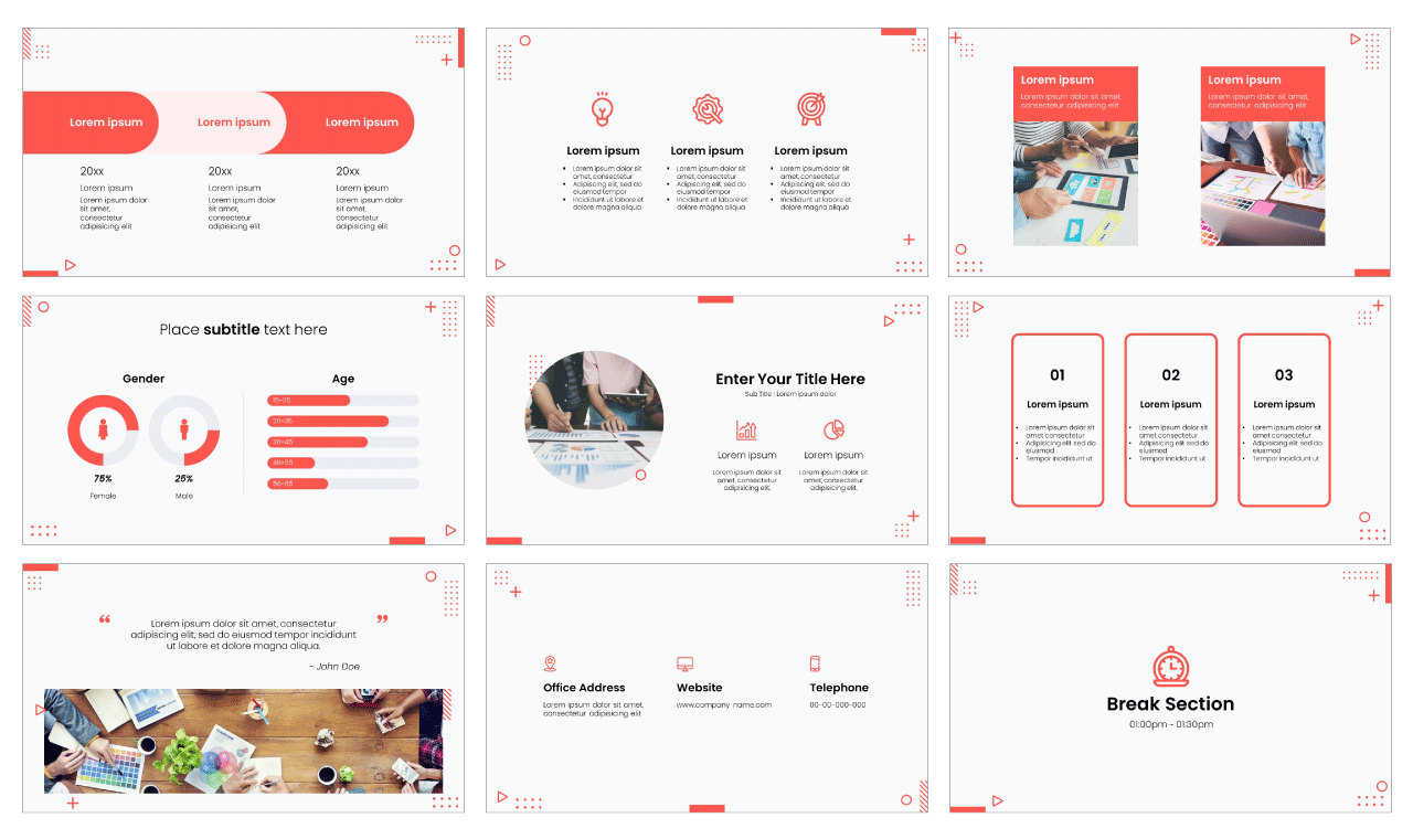 Newsletter PowerPoint Template Google Slides Theme Free download