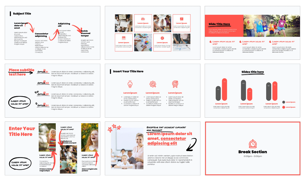 One Point Lesson PowerPoint Template Google Slides Theme