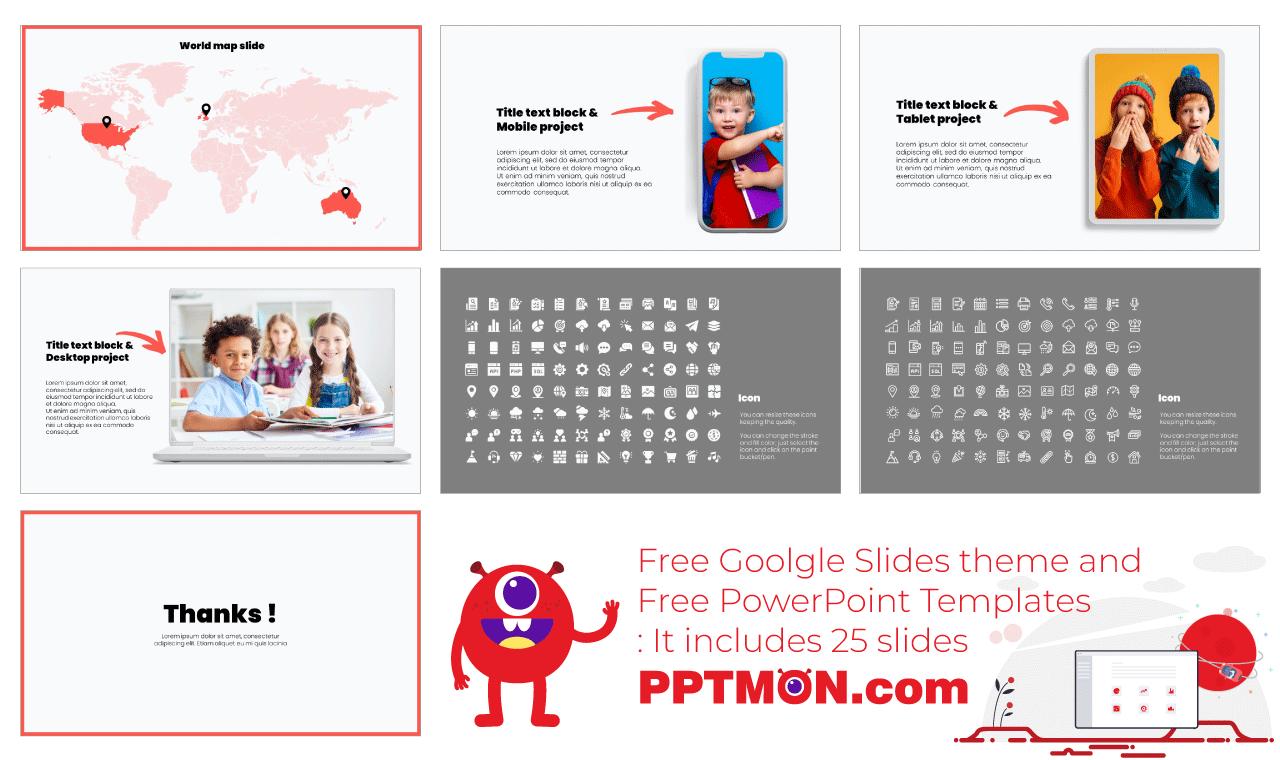 One Point Lesson Presentation background design