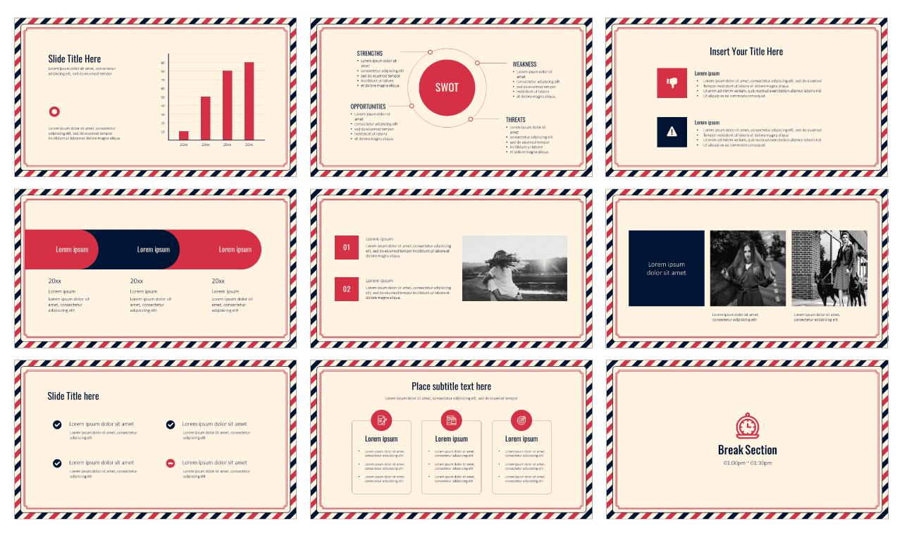 Postcard PowerPoint Template Google Slides Theme free download