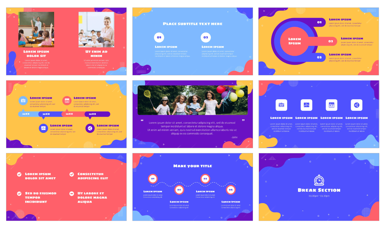 Waves Google Slides Theme PowerPoint Template