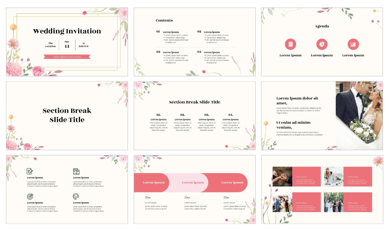 Wedding Free PowerPoint Template Google Slides Theme