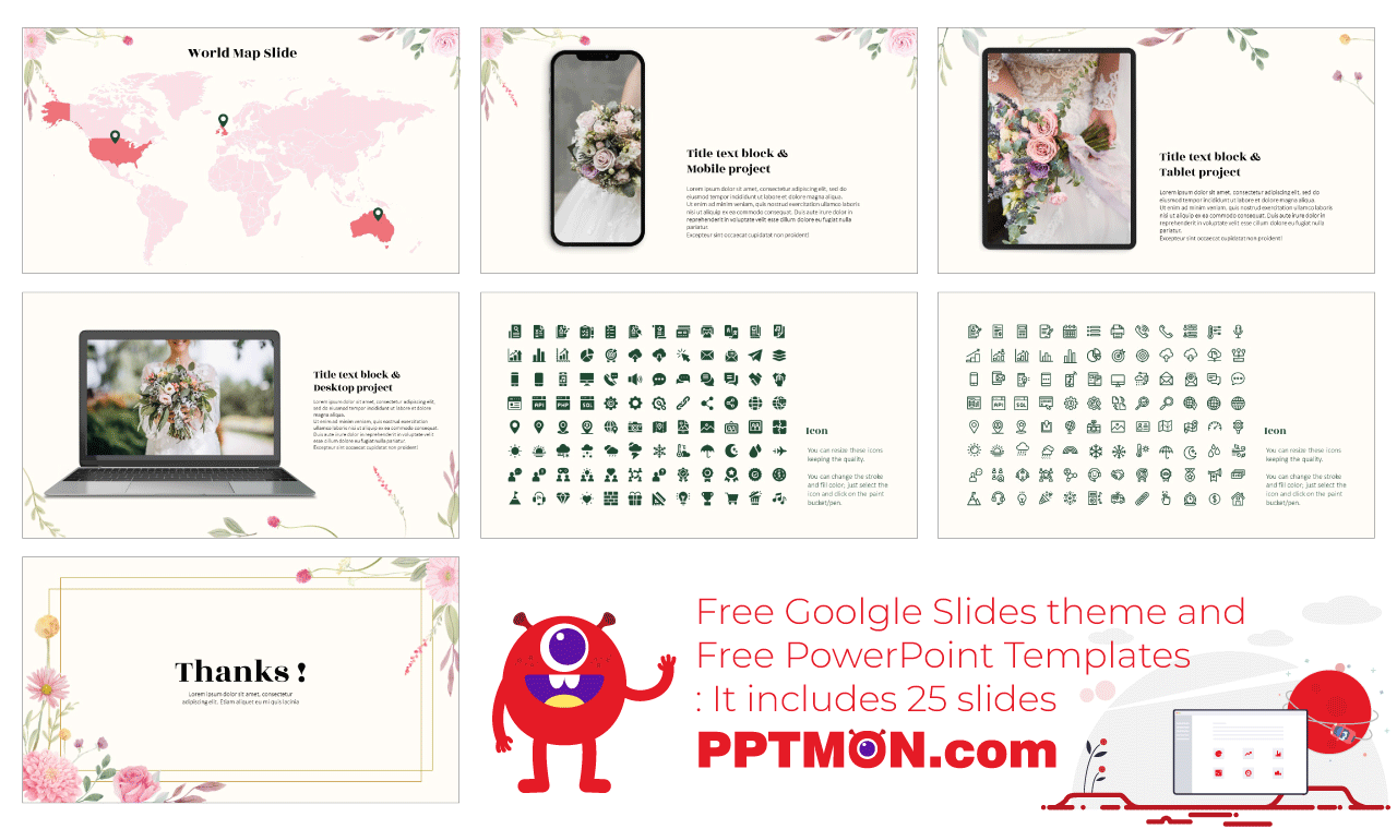 Wedding Presentation background design Free Google Slides Theme PowerPoint Template