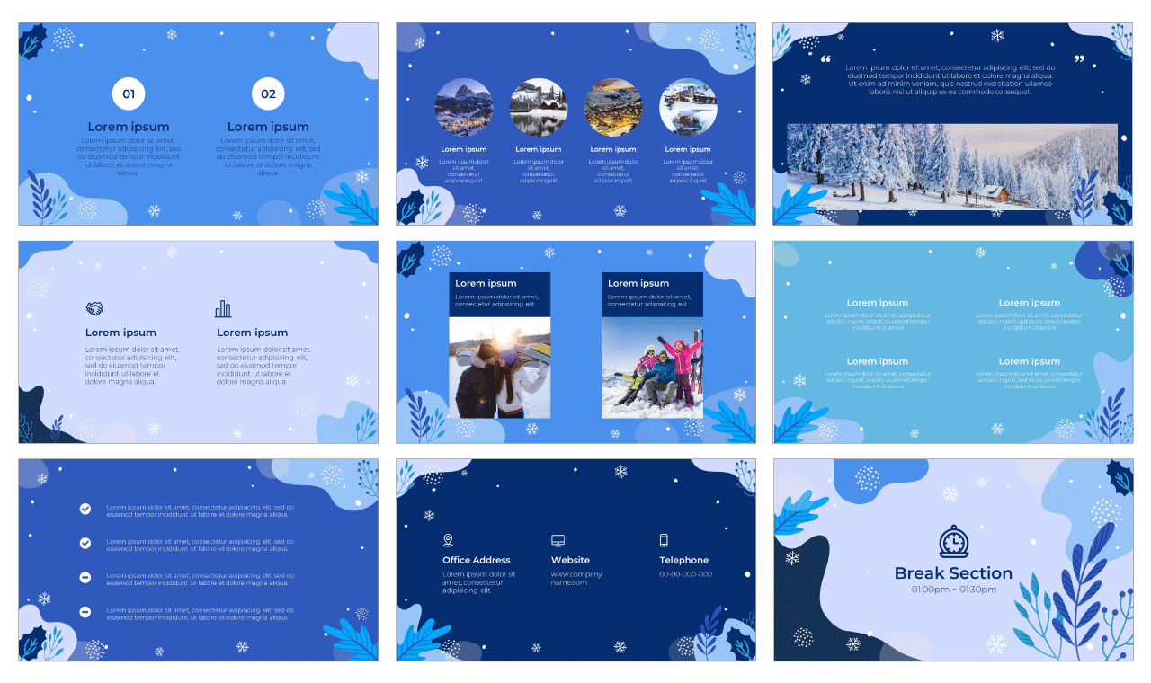 Winter Event PowerPoint Template Google Slides Theme Free download