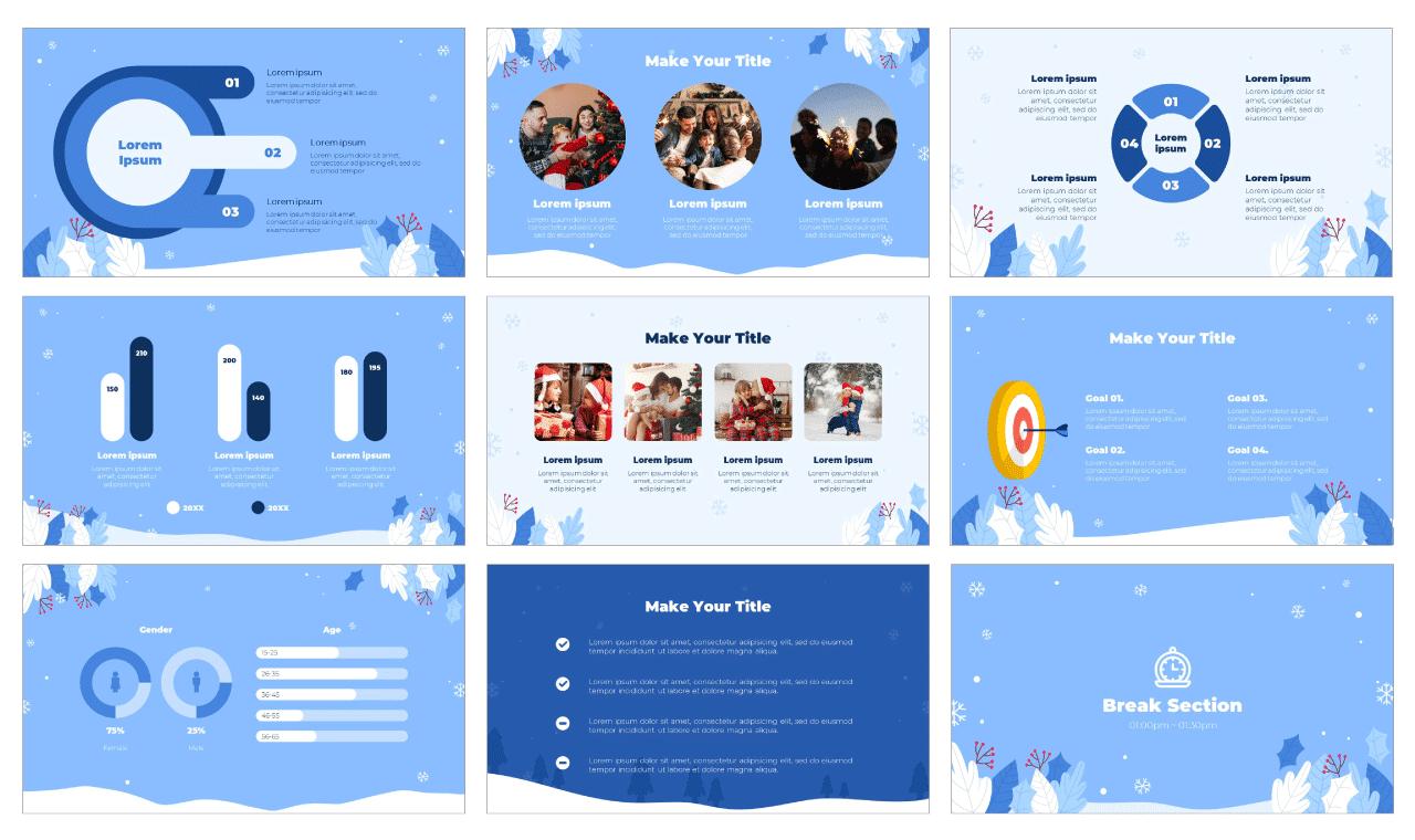 Winter Season Sale Google Slides Theme PowerPoint Template Free Download