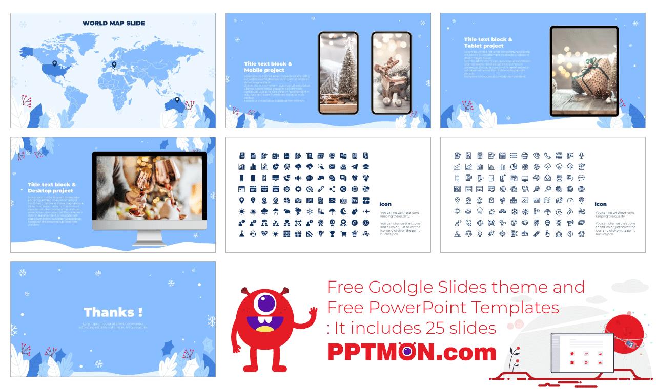 Winter Season Sale Presentation Background Design Free Google Slides Theme PowerPoint Template