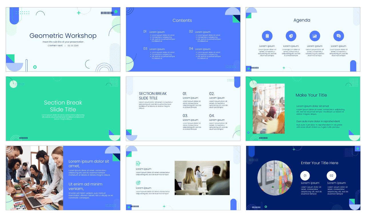 Workshop Free PowerPoint Template Google Slides Theme