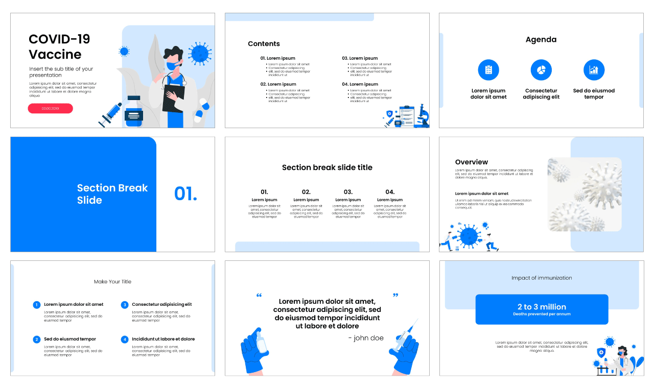 COVID-19 Vaccine Free PowerPoint Template Google Slides Theme