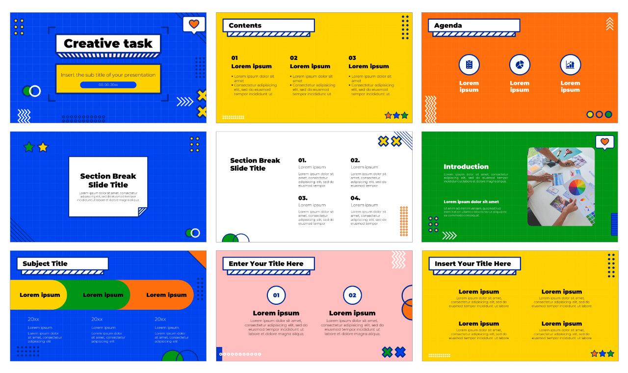 Creative task Free PowerPoint Template Google Slides Theme