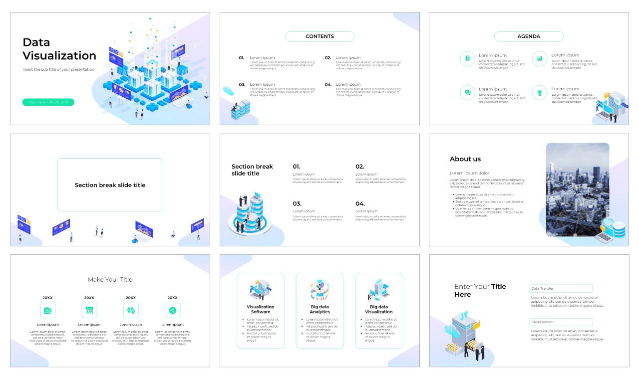 Data Visualization Free PowerPoint Template Google Slides Theme