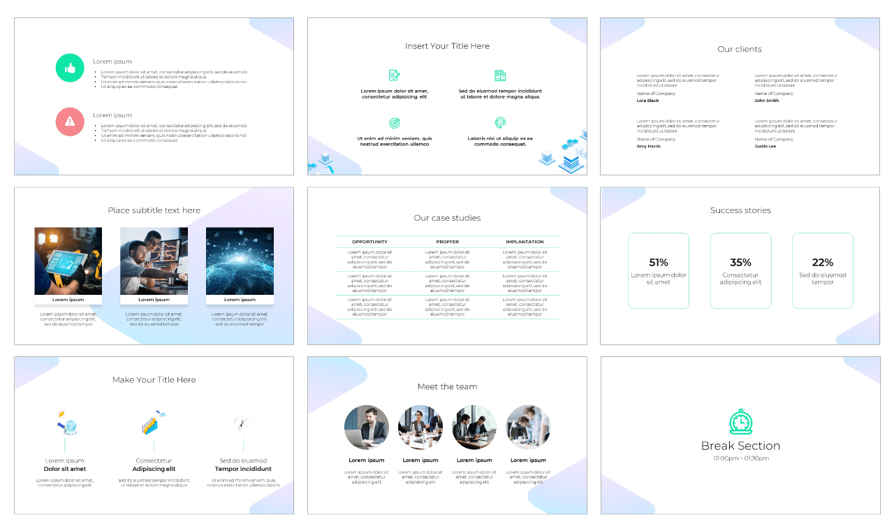 Data Visualization PowerPoint Template Google Slides Theme Free download