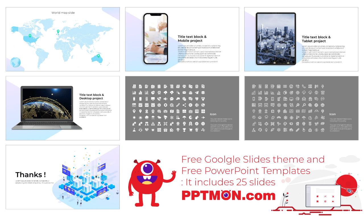 Data Visualization Presentation background design Free PowerPoint Template Google Slides Theme