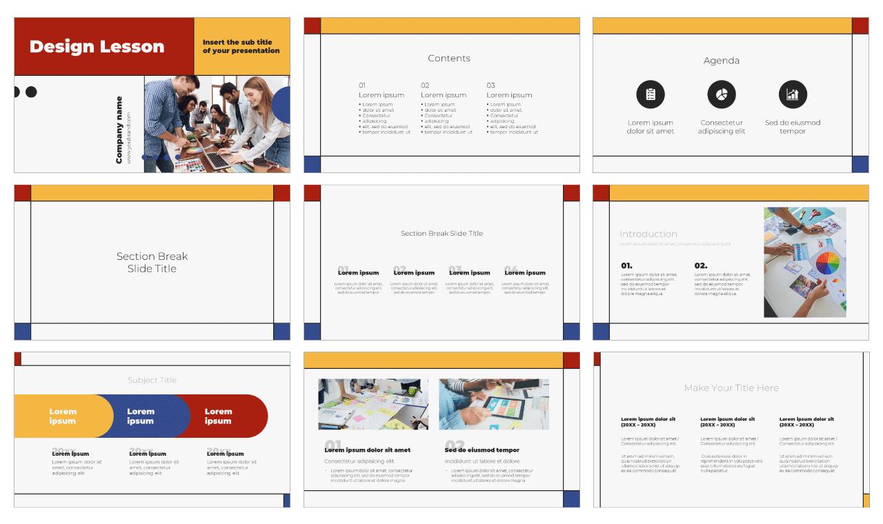 Design Lesson Free PowerPoint Template Google Slides Theme