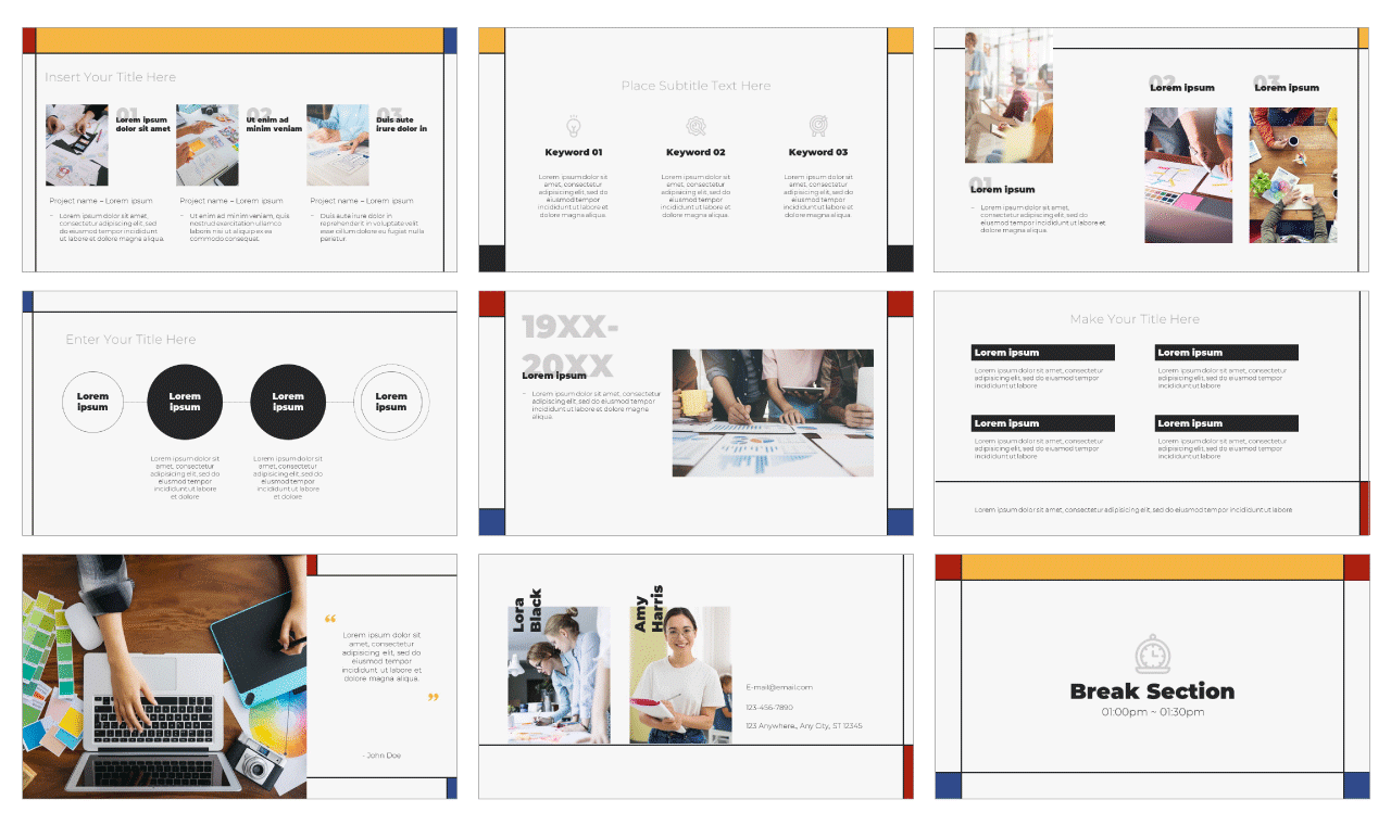 Design Lesson PowerPoint Template and Google Slides Theme Free download