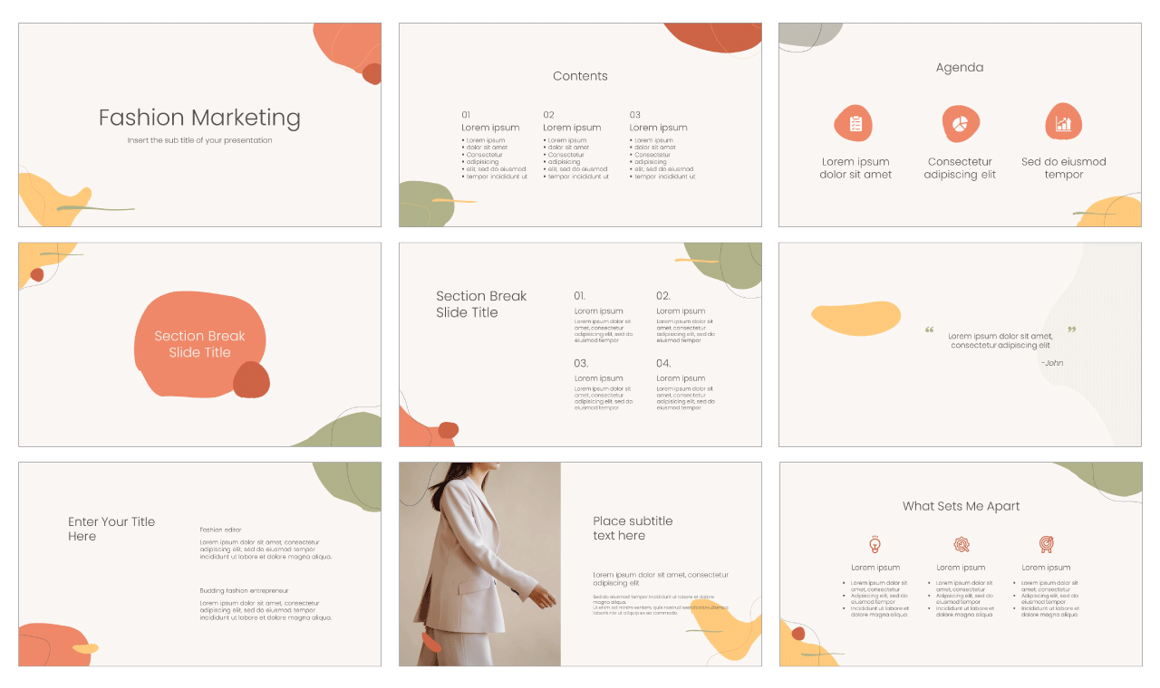 Fashion Marketing Free PowerPoint Template Google Slides Theme