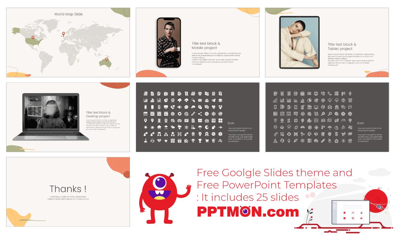Fashion Marketing Presentation background design Free PowerPoint Template Google Slides Theme