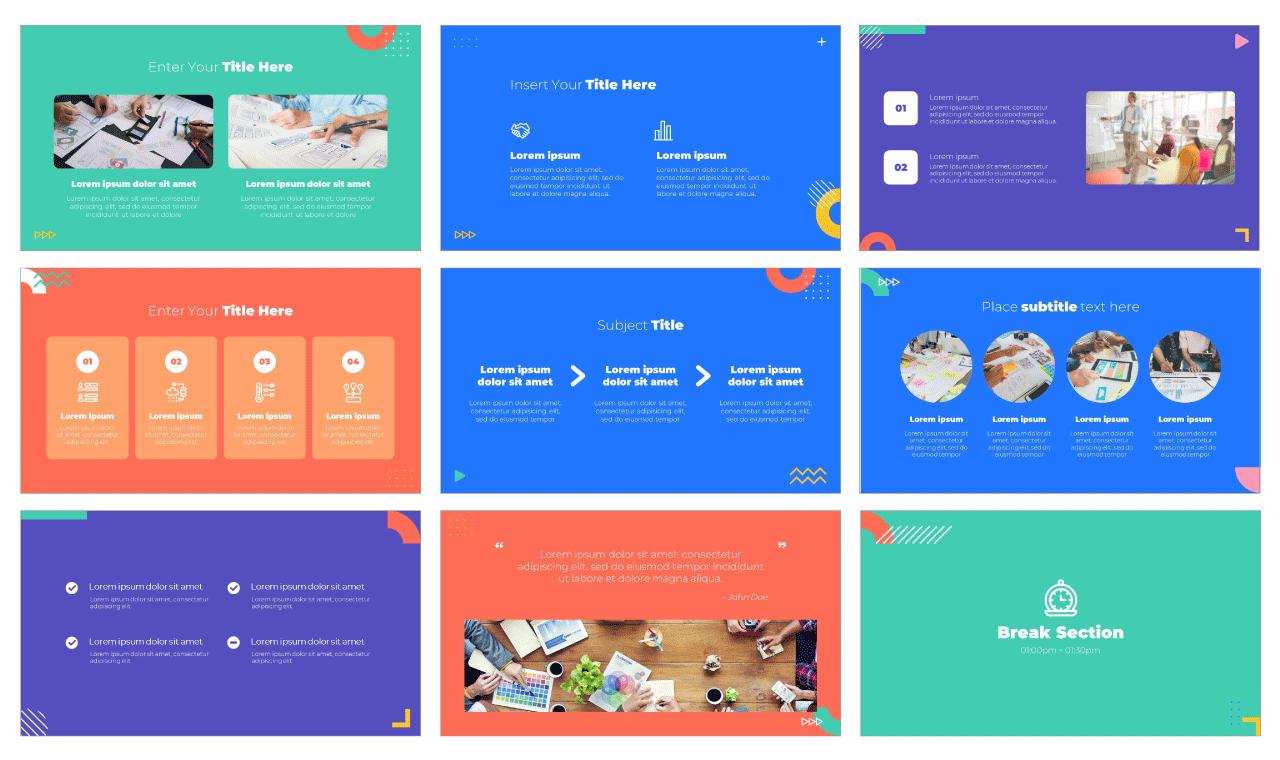 Geometric Project PowerPoint Template Google Slides Theme