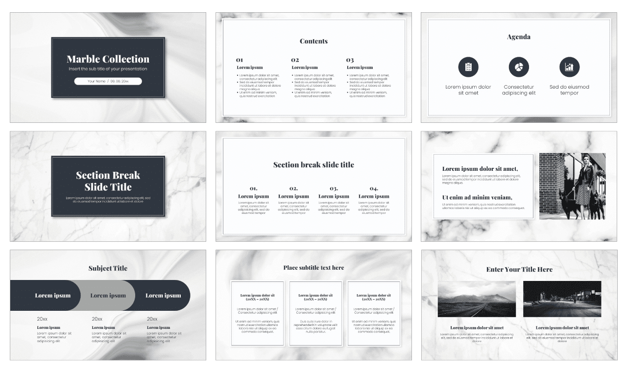 Marble Texture Free Google Slides Theme PowerPoint Template
