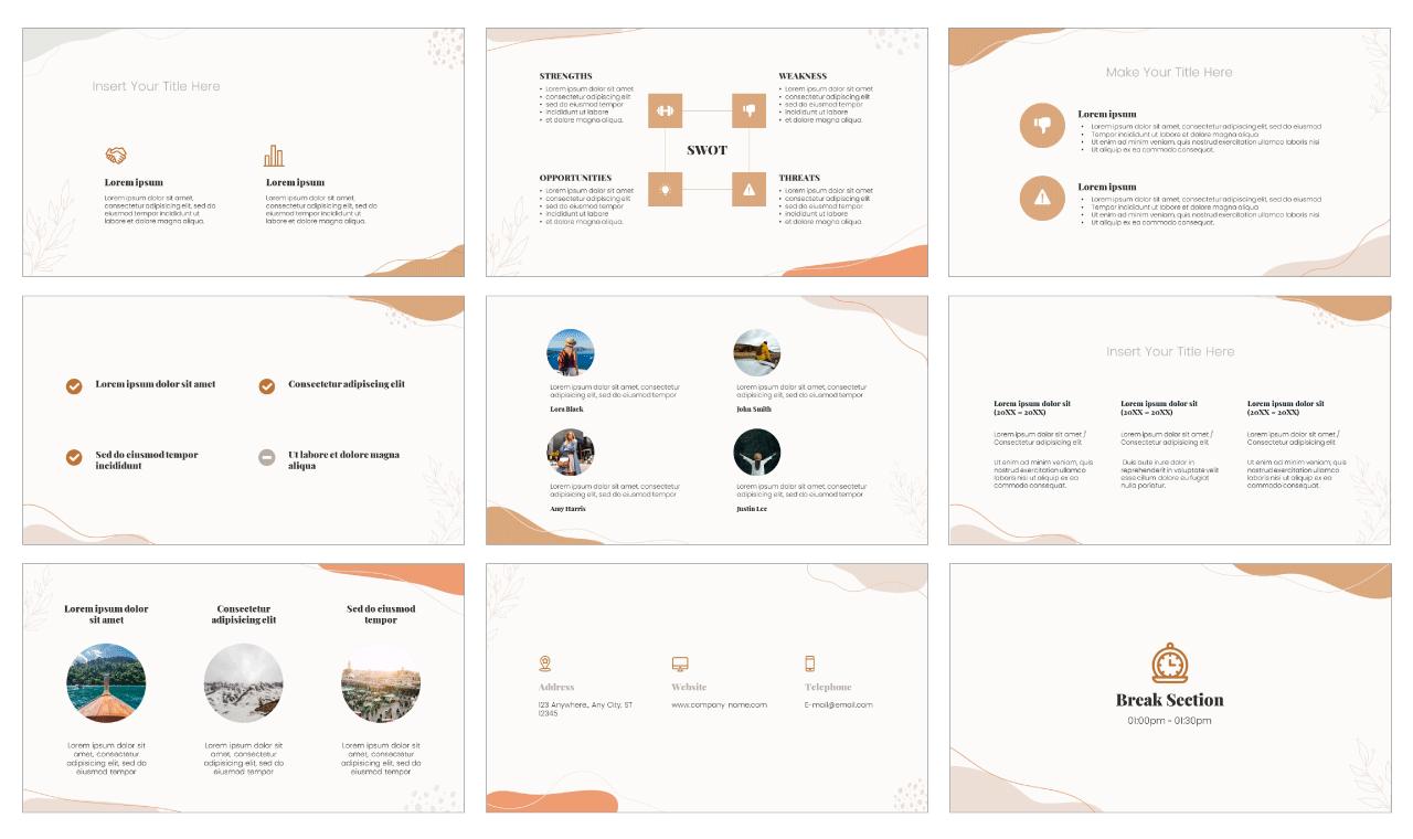 Memphis Flow PowerPoint Template Google Slides Theme Free download