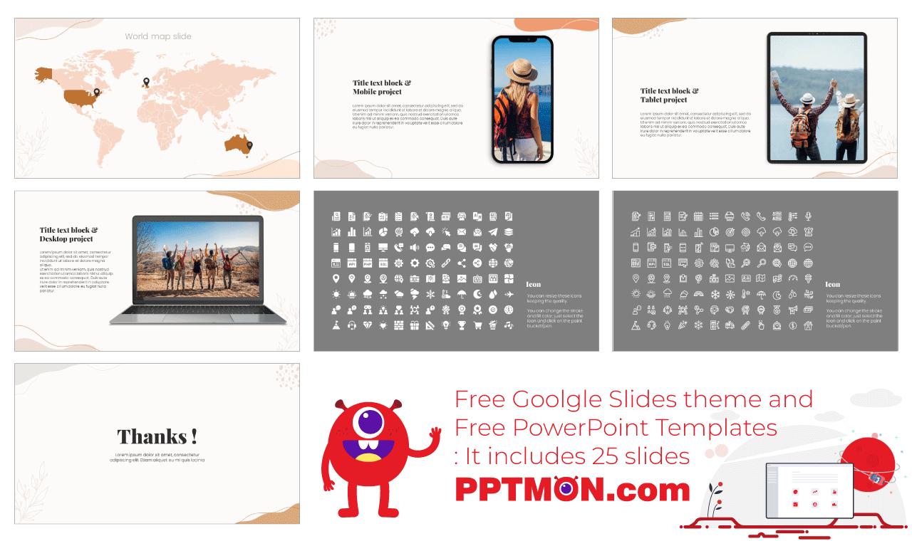 Memphis Flow Presentation background design Free PowerPoint Template Google Slides Theme
