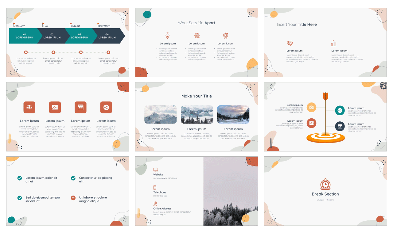 Memphis Lesson PowerPoint Template and Google Slides Theme Free download