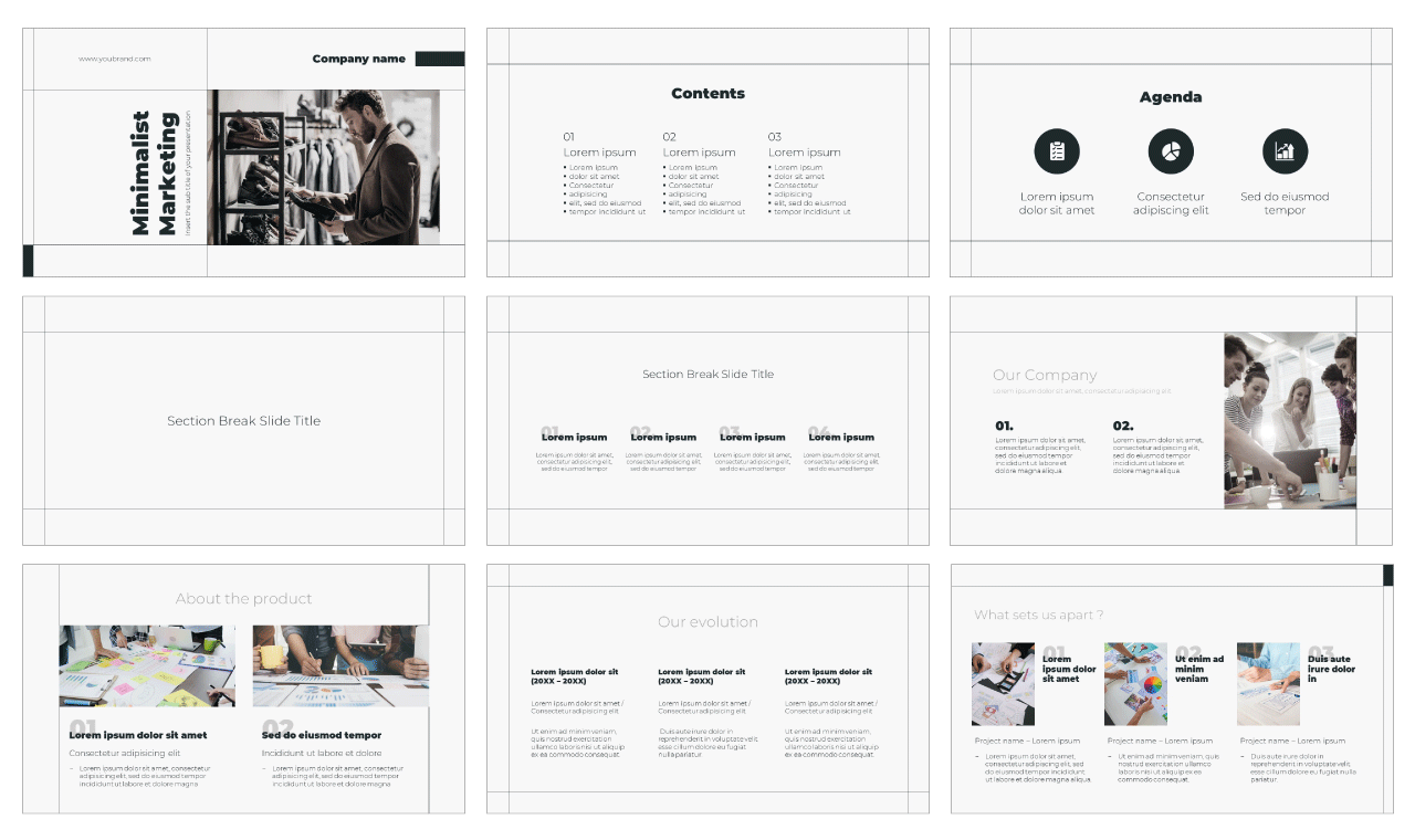 Minimalist Marketing Free PowerPoint Template Google Slides Theme