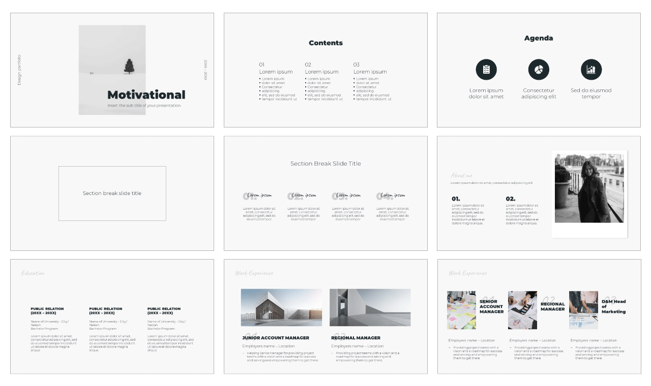 Motivational Free Google Slides Theme PowerPoint Template