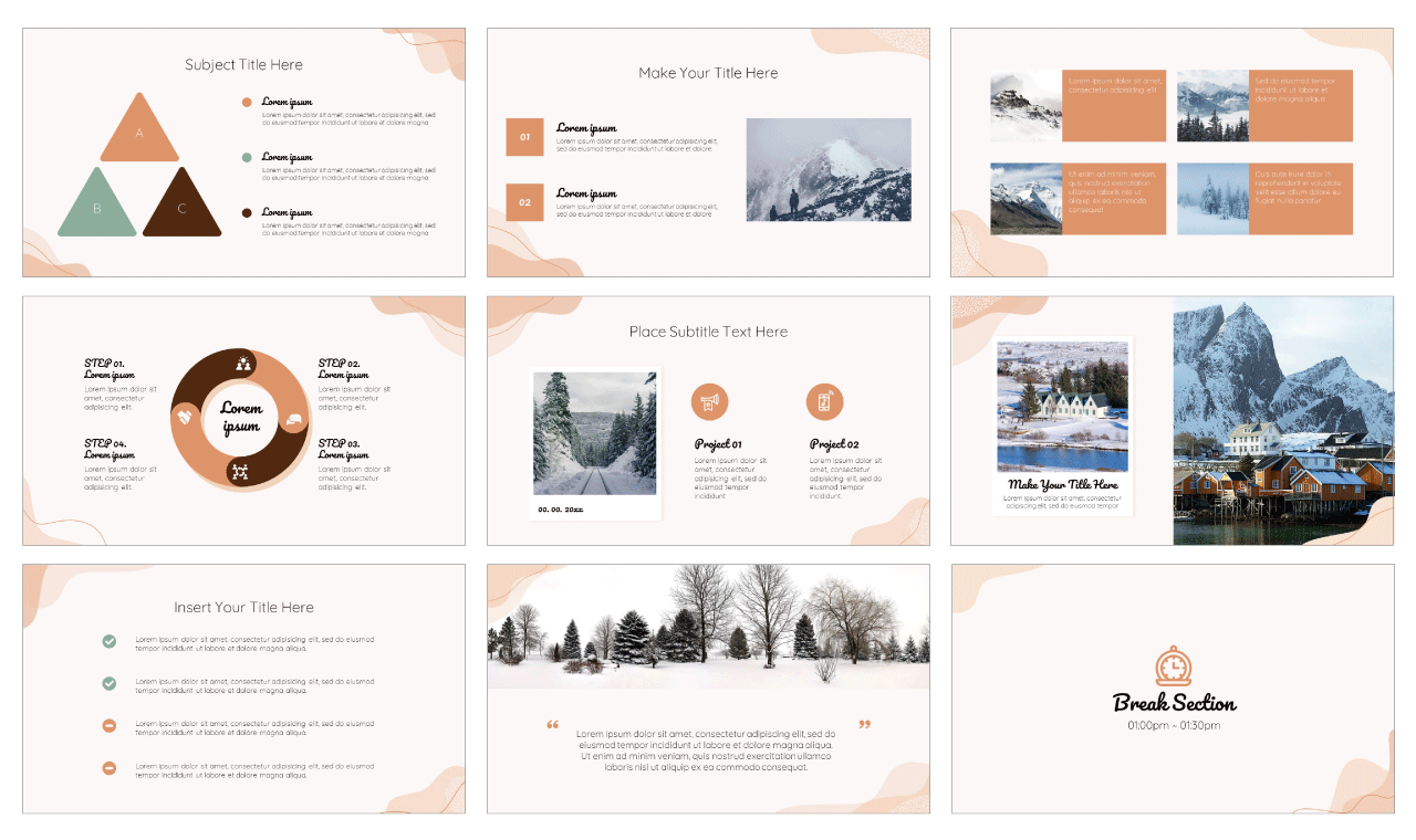Organic PowerPoint Template Google Slides Theme Free download