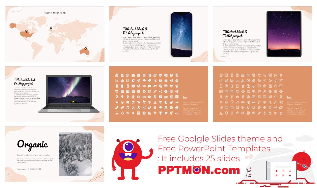 Organic Presentation background design Free PowerPoint Template Google Slides Theme