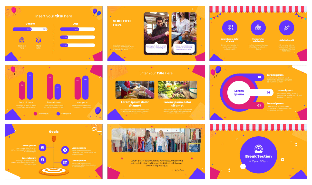 Reopening PowerPoint Template Google Slides Theme Free download