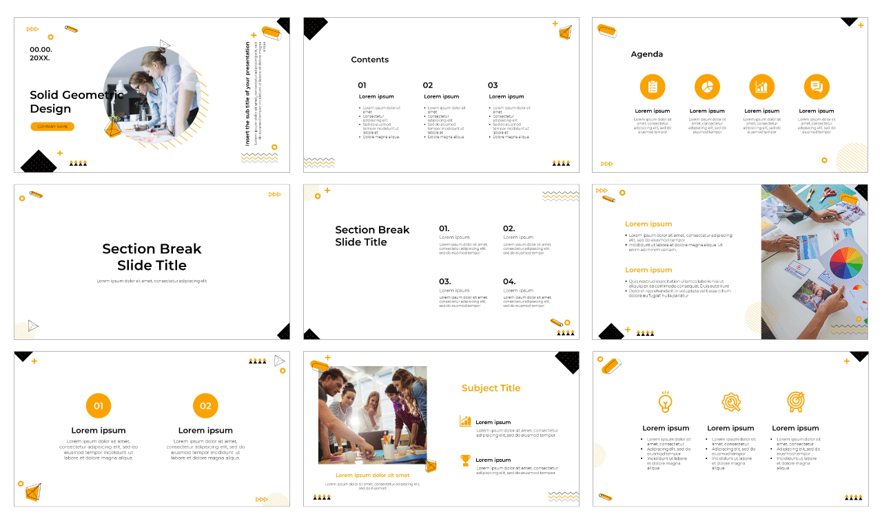 Solid Design Free PowerPoint Template Google Slides Theme