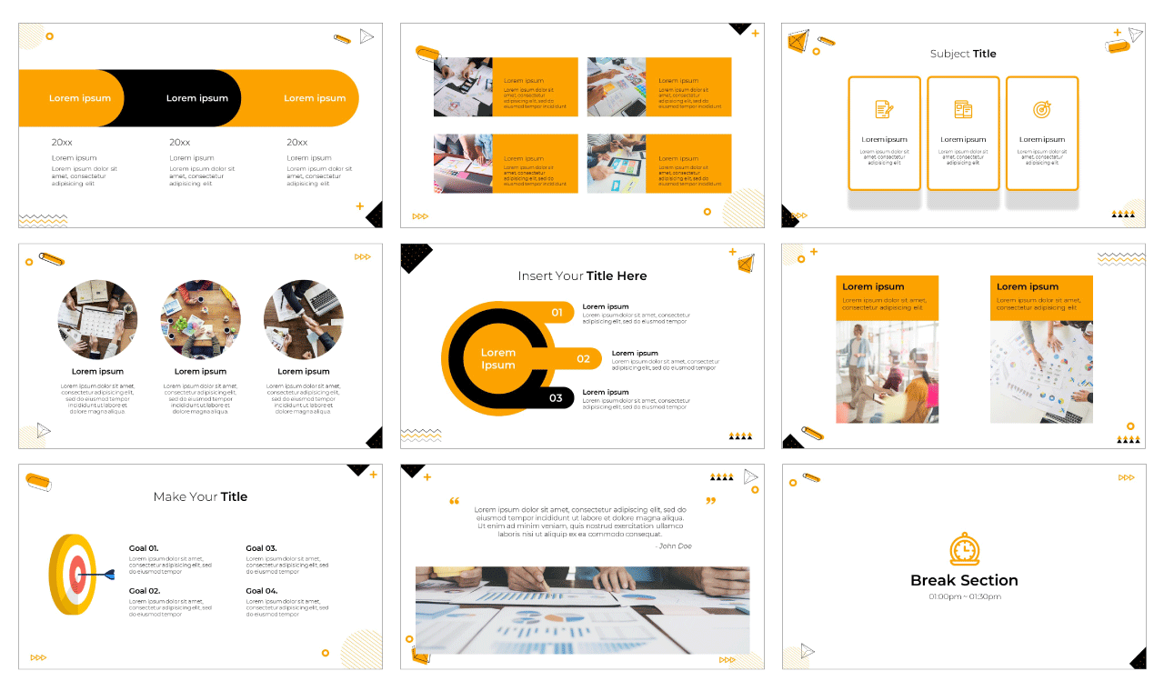 Solid Design PowerPoint Template Google Slides Theme Free download