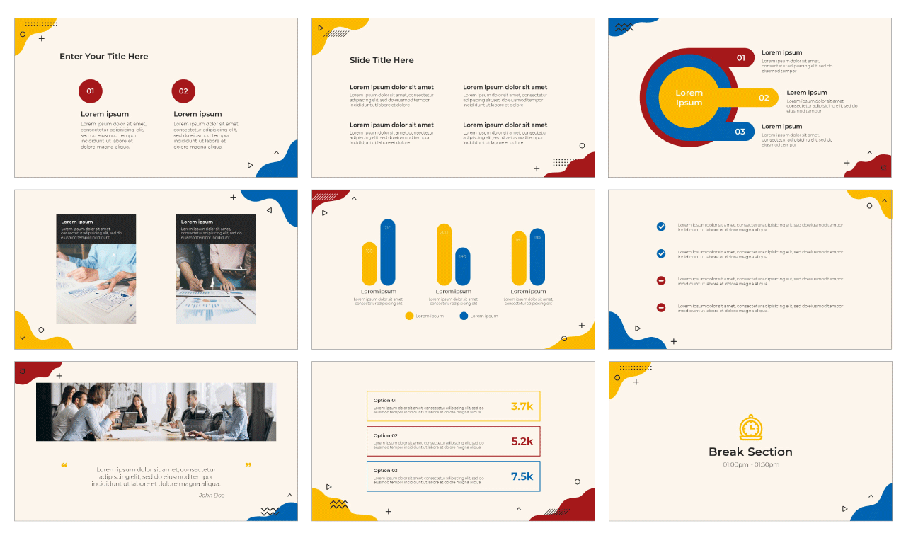 Wave Newsletter PowerPoint Template and Google Slides Theme