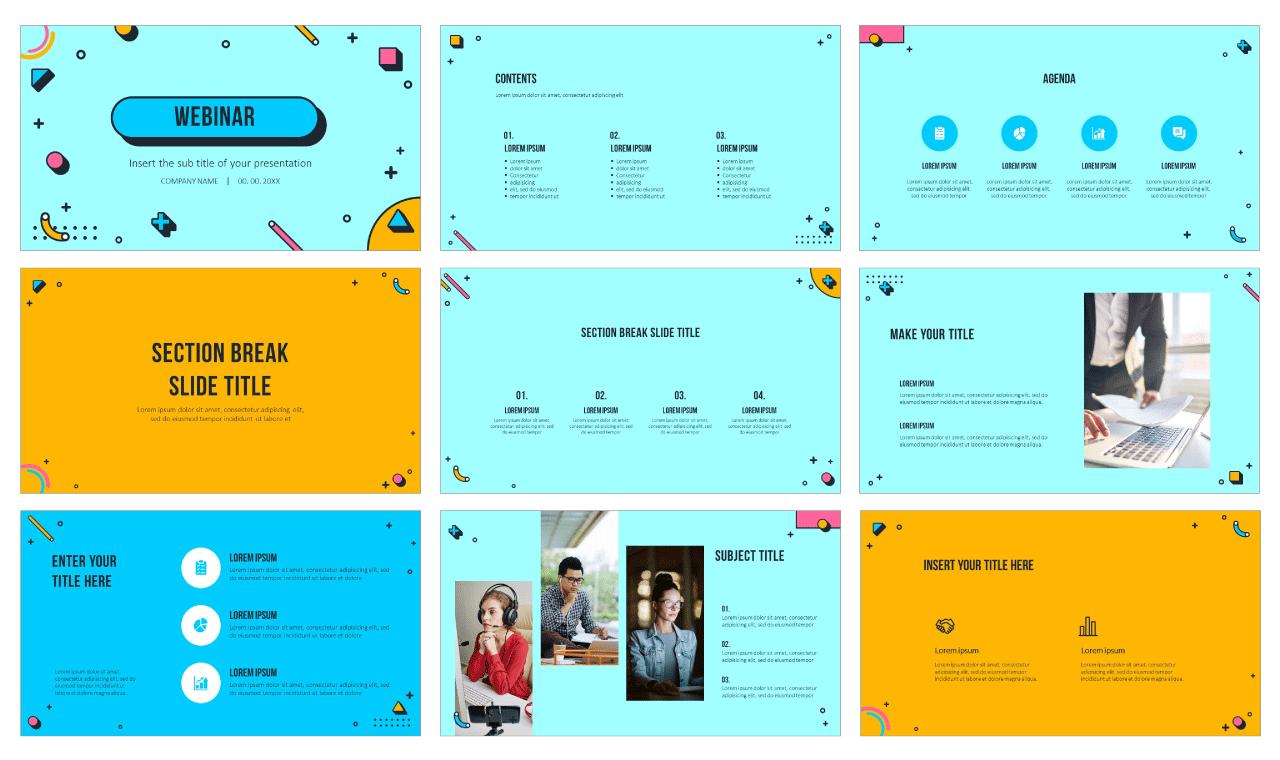 Webinar Free Google Slides Theme PowerPoint Template