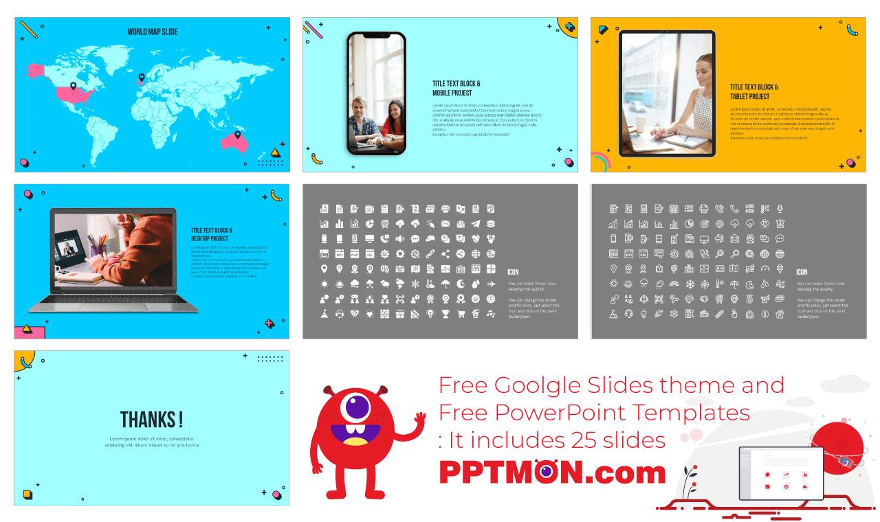 Webinar Presentation background design template free download
