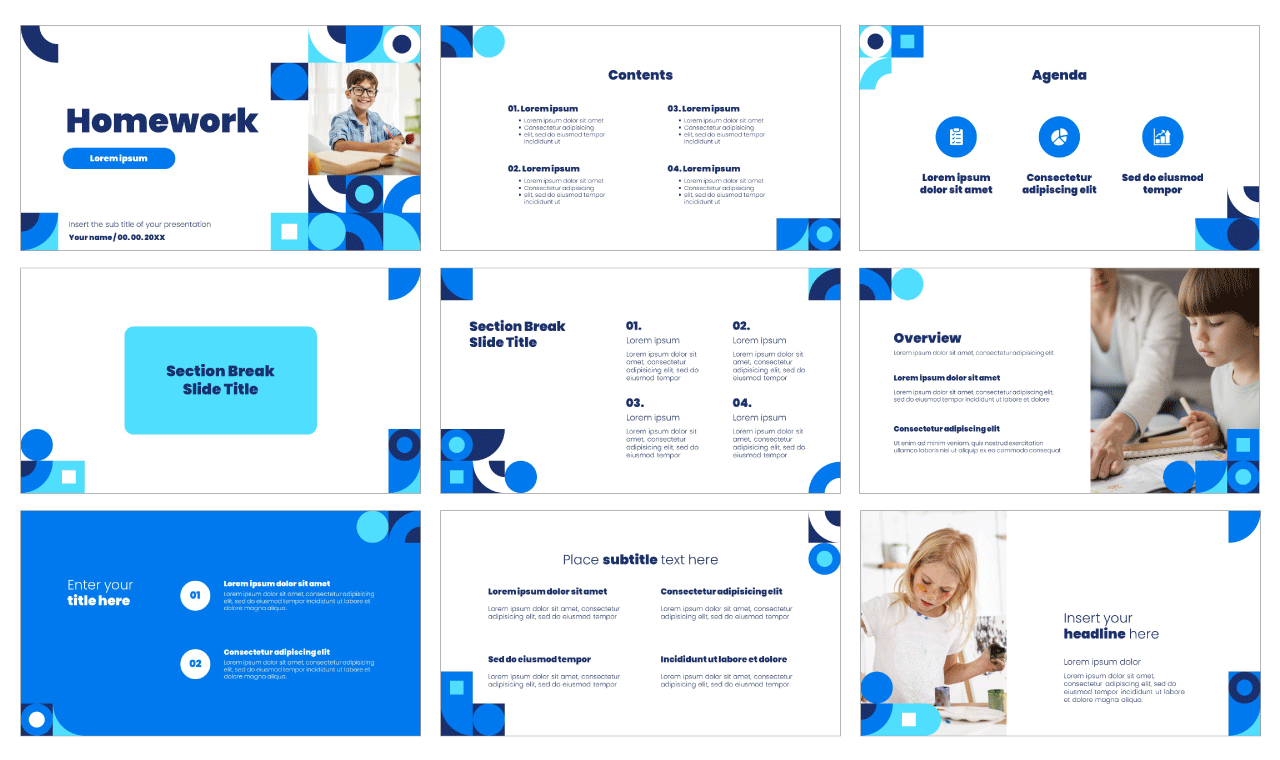 Homework Free PowerPoint Template Google Slides Theme