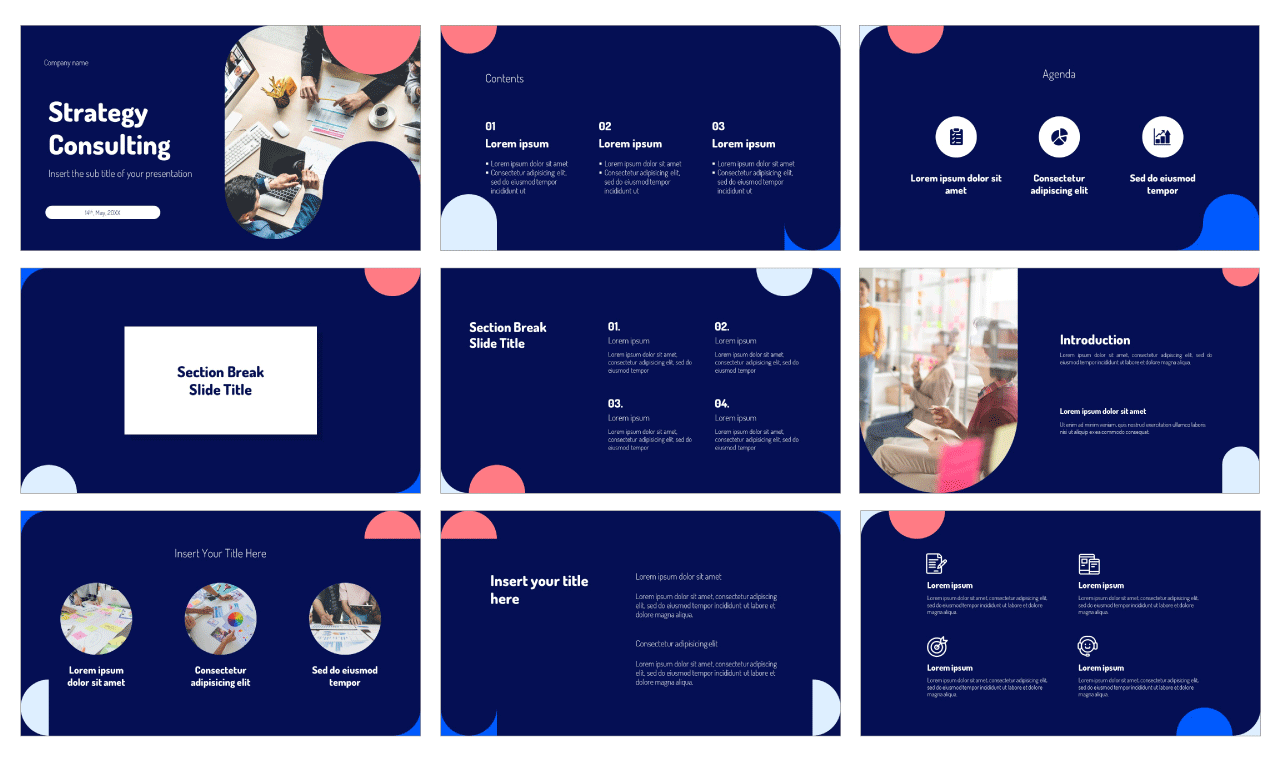 Strategy Consulting Free PowerPoint Template Google Slides Theme