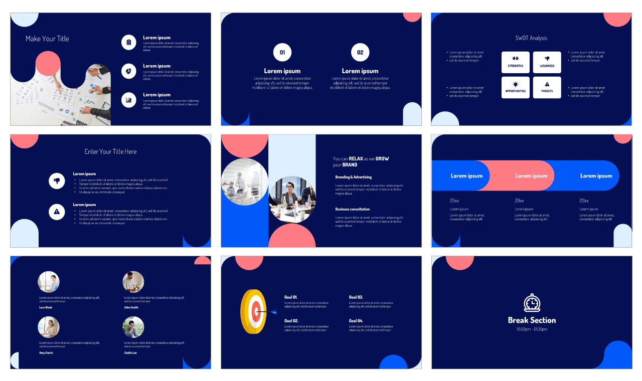 Strategy Consulting PowerPoint Template Google Slides Theme Free download