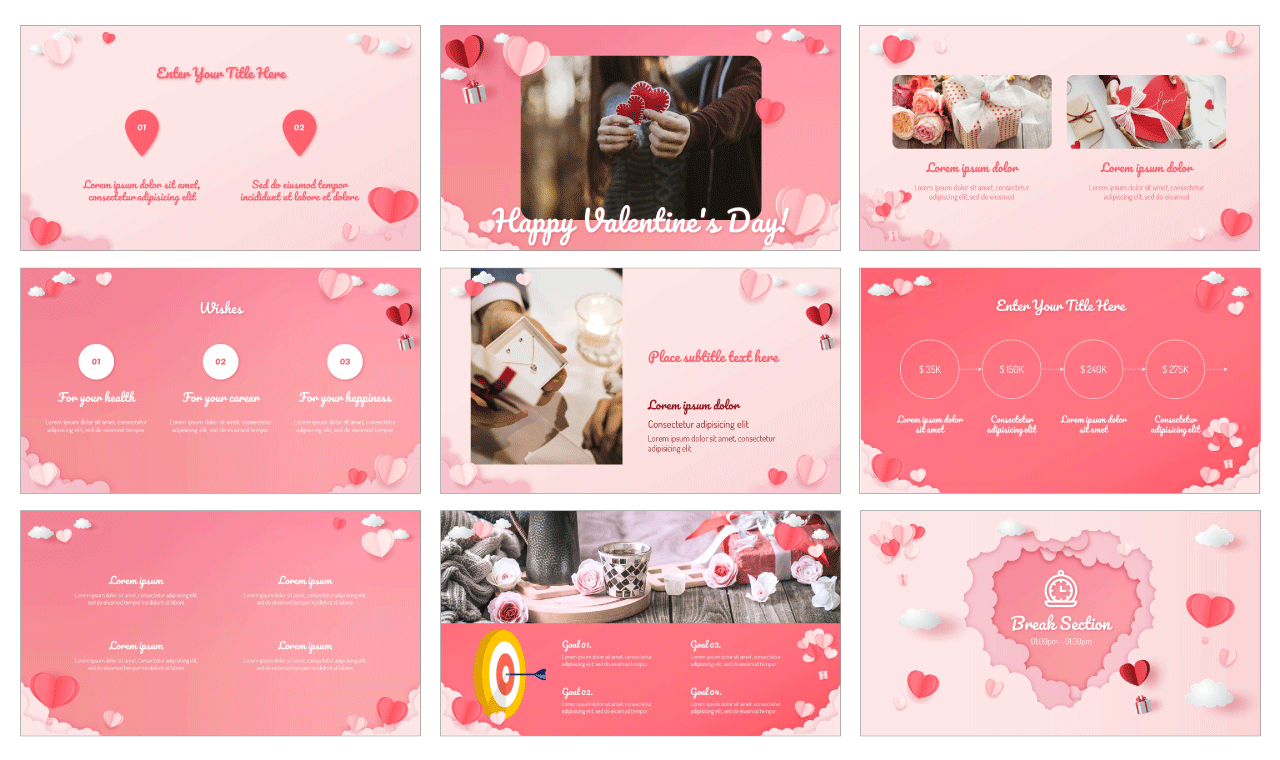 Valentine's Day Sale PowerPoint Template Google Slides Theme Free download
