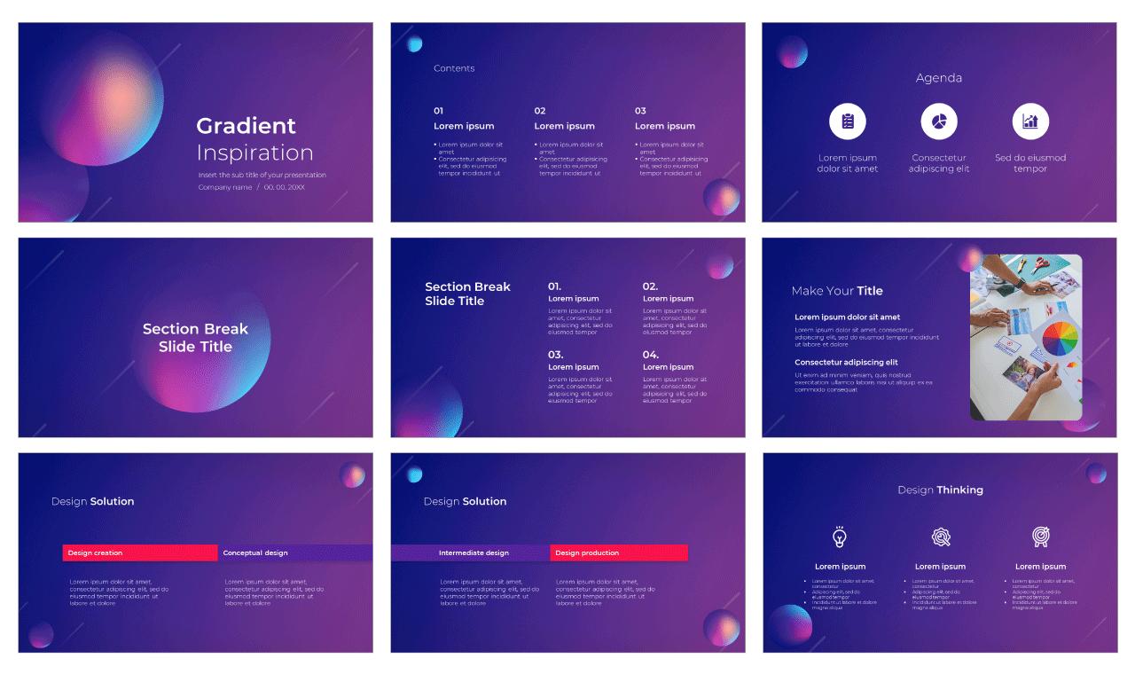 Gradient Inspiration Free PowerPoint Template Google Slides Theme