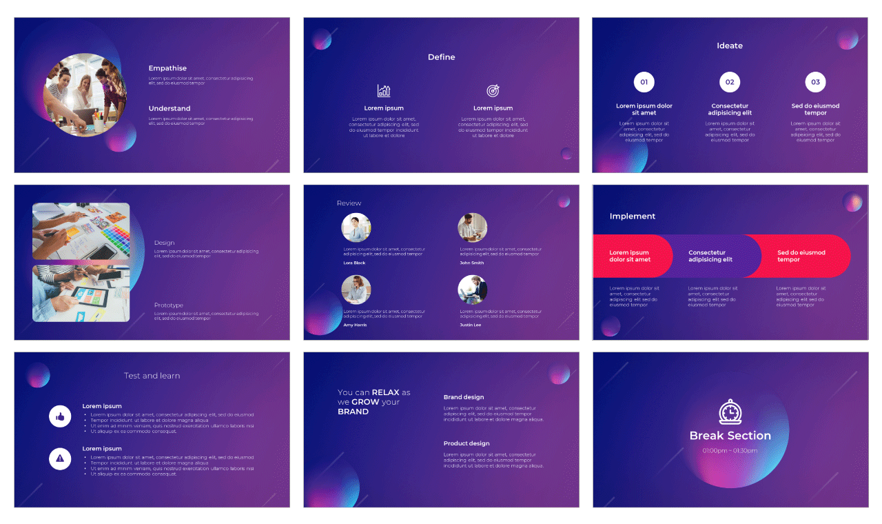 Gradient Inspiration PowerPoint Template and Google Slides Theme Free download