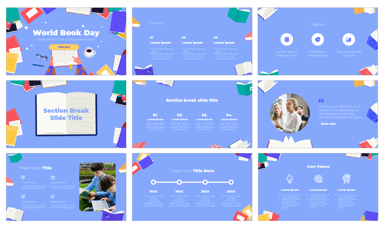 Book Day Free PowerPoint Template Google Slides Theme