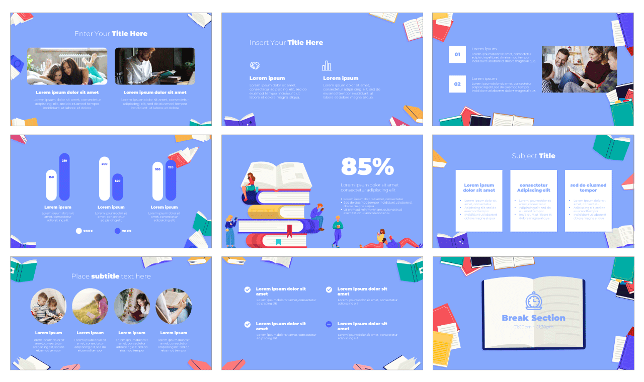 Book Day PowerPoint Template Google Slides Theme Free Download