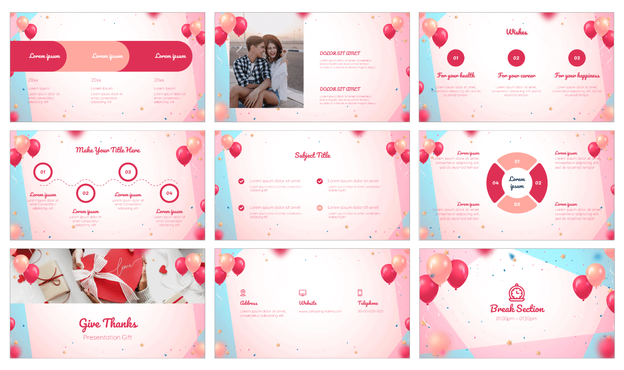 Colorful Birthday PowerPoint Template Google Slides Theme Free download
